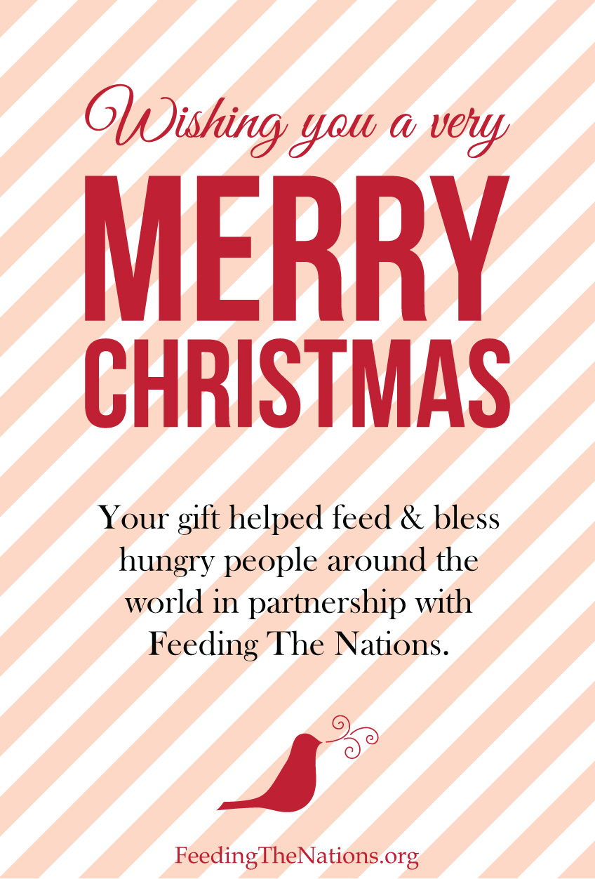 An Unpretty, but Essential Christmas Gift - Feeding The Nations