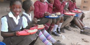 Zambia Boys Eating